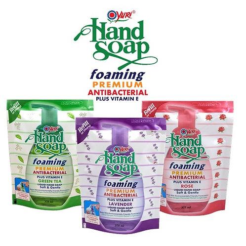 Yuri Foaming Antibacterial Hand Soap Refill 375ml Various
