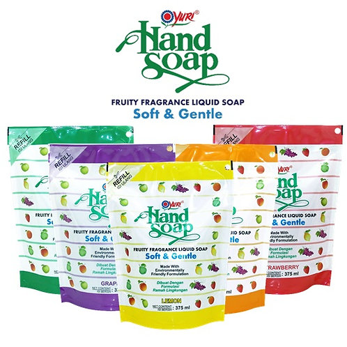 Yuri Fruity Hand Soap Refill 375 ml Various