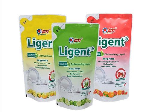 Yuri Ligent Antibacterial Dishwashing Liquid Refill 600ml