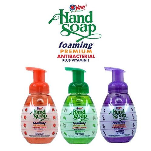 Yuri Foaming Antibacterial Hand Soap 410ml Various