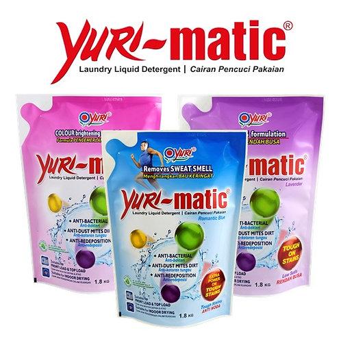 Yuri Matic Antibacterial Liquid Laundry Detergent Variants 1.8Kg