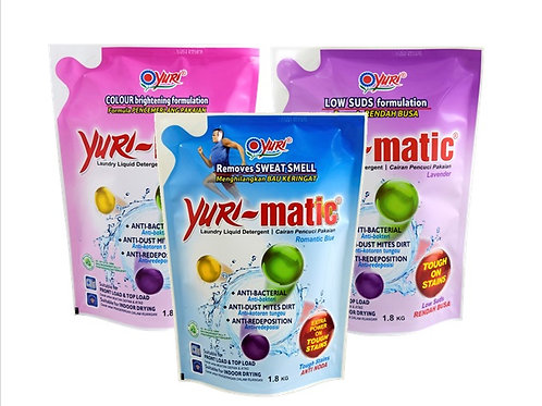 Yuri-Matic Antibacterial Liquid Laundry Detergent Refill 1.8Kg