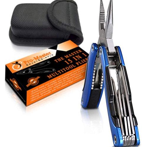 Multitool Knife. 15 in 1 Portable Pocket Multifunctional Multi Tool. Folding Saw