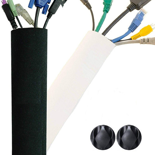 New Design PREMIUM 63'' Cable Management Sleeve, Best Cords Organizer System for