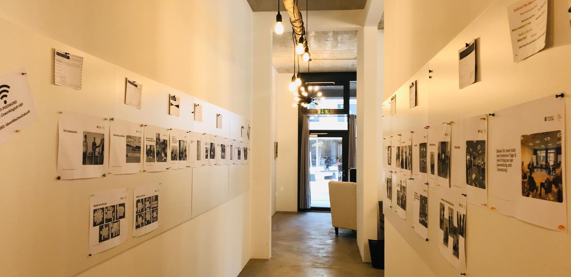 Vertikalflächen in der Workshop Location