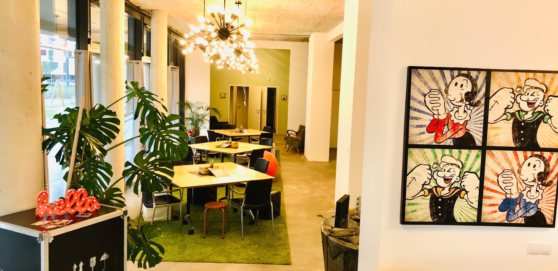 Loft Charakter in unseren Seminarräumen in Wien