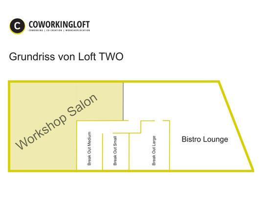 Grundriss Workshop Salon