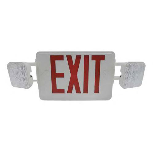 Exit Sign With Twin Head Light