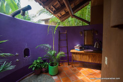 Garden shower in tropical mexican ho