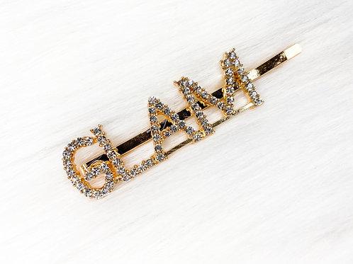 """GLAM"" Hair Pin"