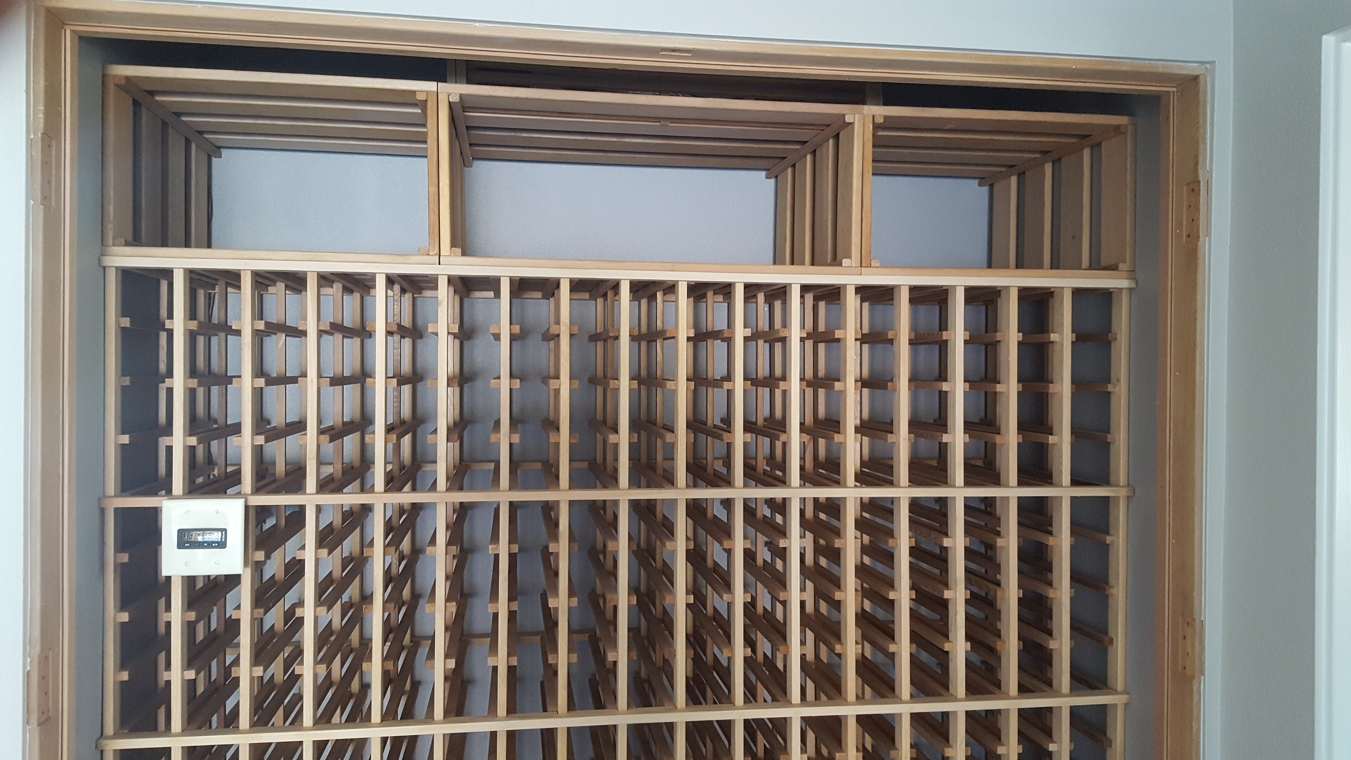 wine rack closet conversion