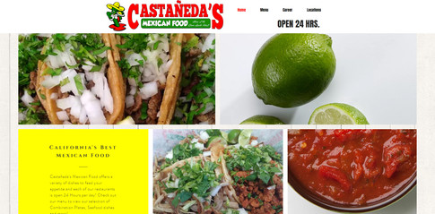 Castañeda's Mexican Food Website