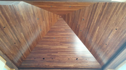 tongue and groove pyramid ceiling in