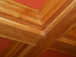 box beams with crown molding install