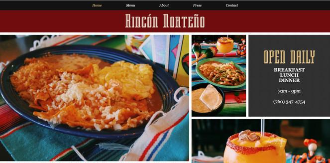 Rincon Norteño Website