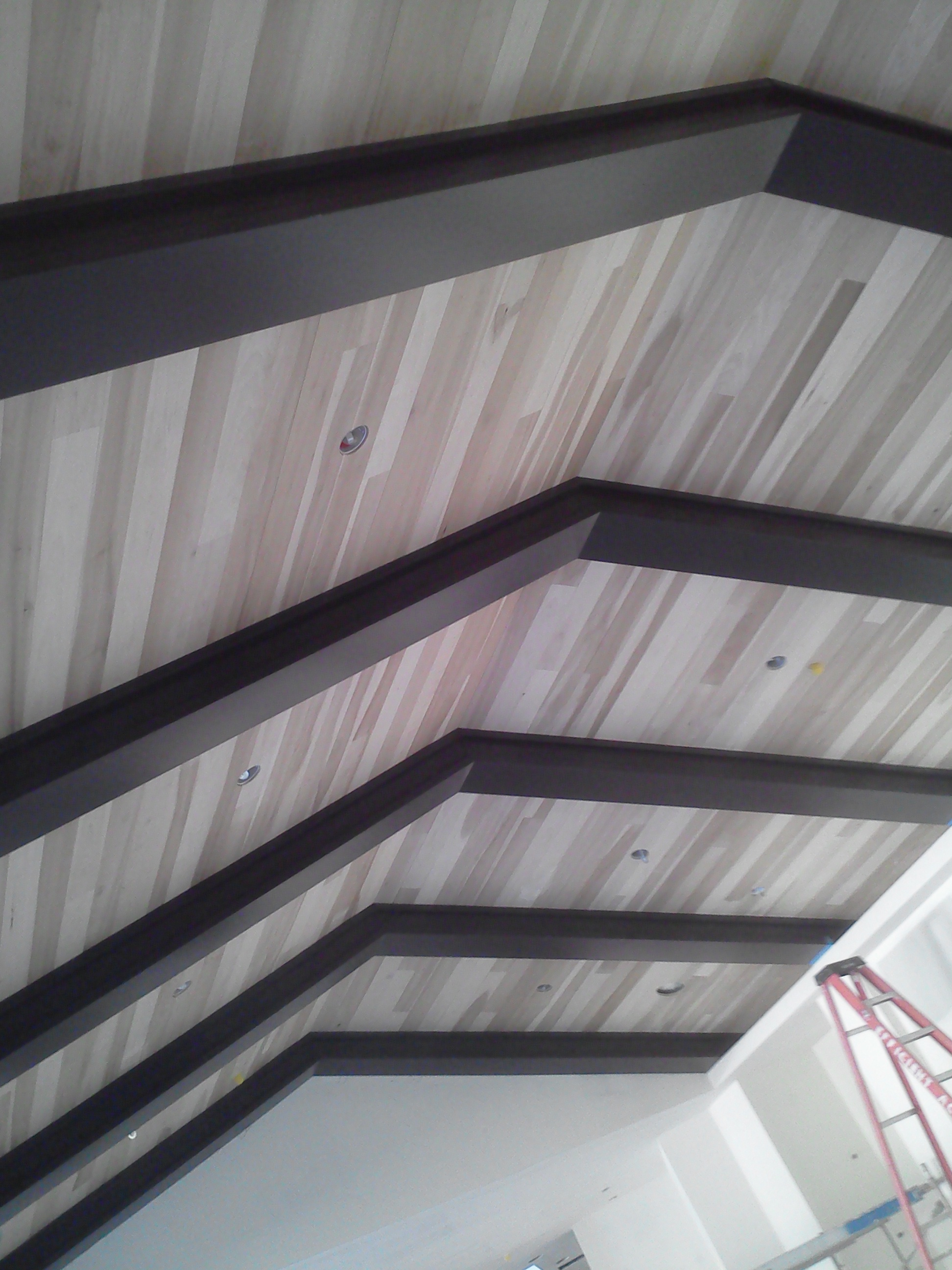 wood ceilings install job