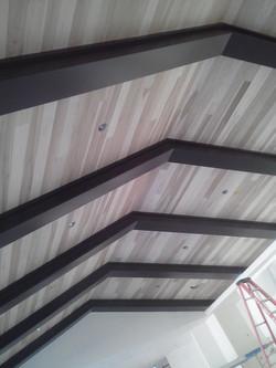 wood ceilings install job