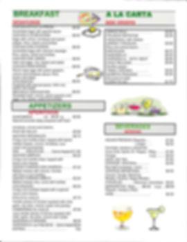 Breaffast menu - Taqueria Tlaquepaque