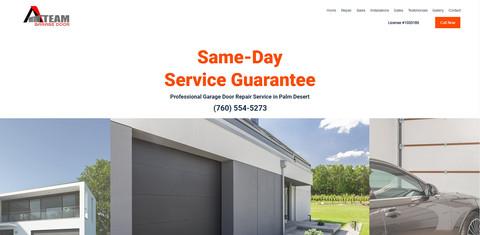 A Team Garage Door Website