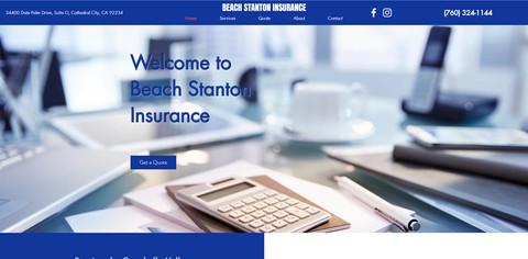 Beach Stanton Insurance Website