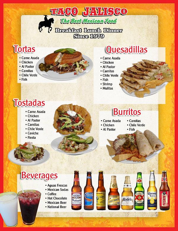 taco jalisco menu