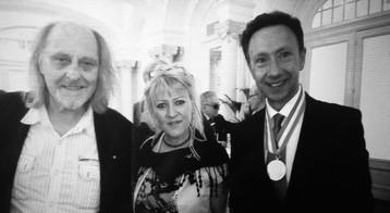 Charles Suberville, Sandra Wel et Stéphane Bern