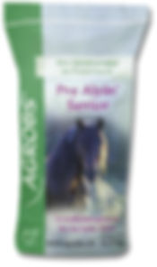 Low sugar and starch feed for older horses or horses with poor teeth