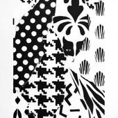 UNO  The ctrl 21 x 48 cm Spray paint on fine art paper 300gsm 2017