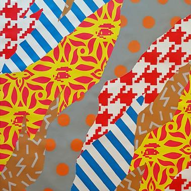 UNO  Camouflage0419XXX 62 x 80 cm Spray paint on canvas 2019
