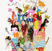 Laurina Paperina  Spamming (Contemporary Art II) 70 x 100 cm Mixed media on paper 2017