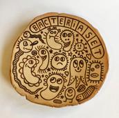 Albert Pinya & Català Roig   Bacteria Set 53,5cm diameter Groggy stoneware with underglaze pigments  2020