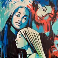 Haze  273 x 210 cm Acrylic on canvas 2018