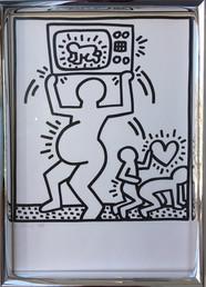 Keith Haring lithographs from Lucio Amelio's portfolio -Signed 1983-1985