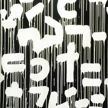 Raul33  R(e)volution Enamel paint on canvas 100 x 150 cm 2015