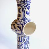 Albert Pinya & Català Roig   Future  61x19cm diameter Groggy stoneware with underglaze pigments  2020