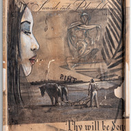 Thy will be done   30 x 44,5 cm Mixed media on hand-crafted wood panel  2015