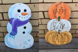 snowman-pumpkin cut out