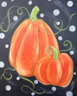 pumpkin polka dot