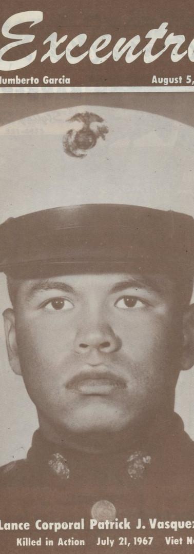 Lance Corporal Patrick J Vasquez Jr