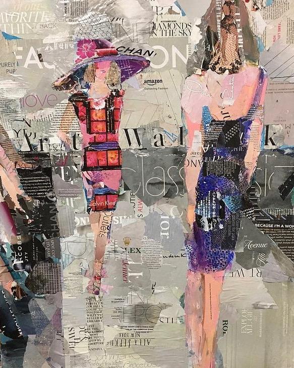 Fashion collage art