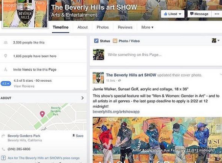On the Beverly Hills ArtSHOW FB Page!