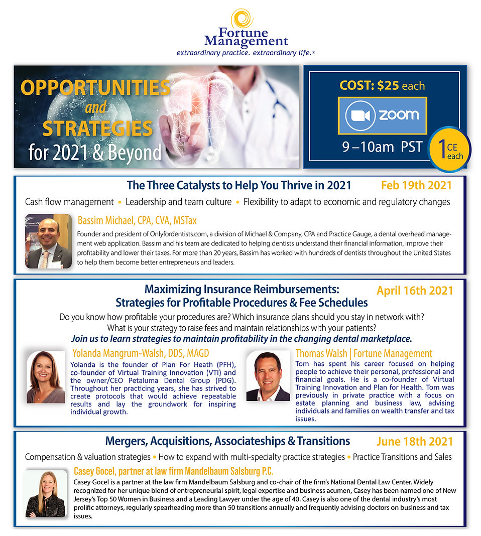Opportunites & Strategies for 2021 WEB S