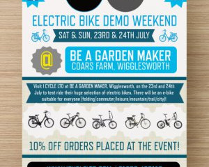 ELECTRIC BIKE DEMO WEEKEND AT BE A GARDEN MAKER