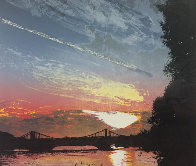 Chelsea Bridge - sunset