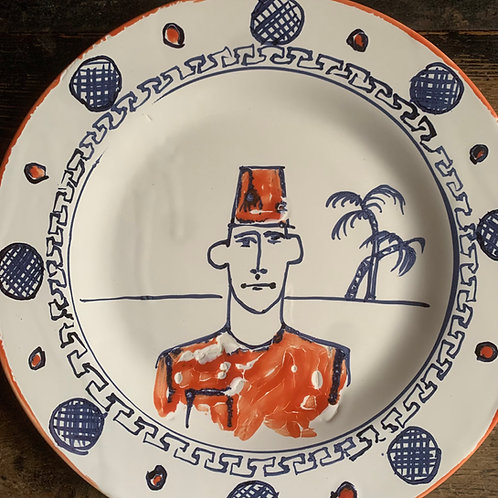 Aziz In His Orange Fez plate
