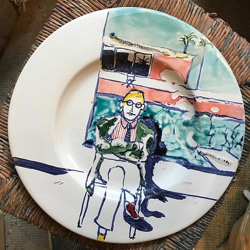 David Hockney large plate