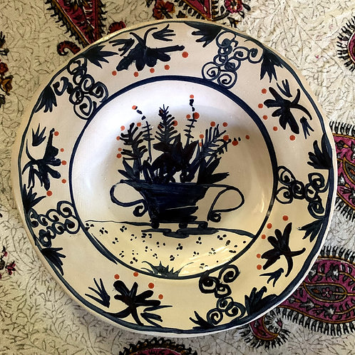 Blue and White Vase plate