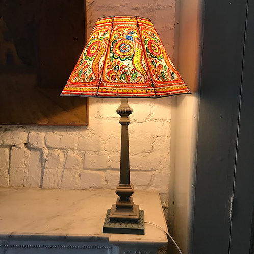 Indian hand painted lamp shade