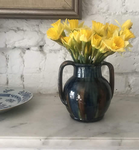 Early 20th century vase. Twin handles West Country.
