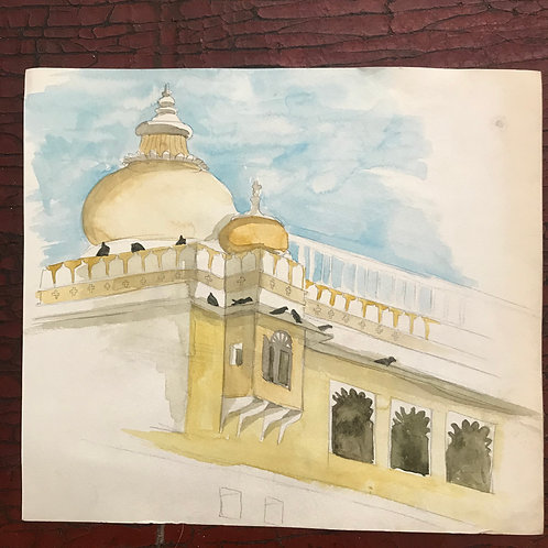 Rajasthan water colour by me